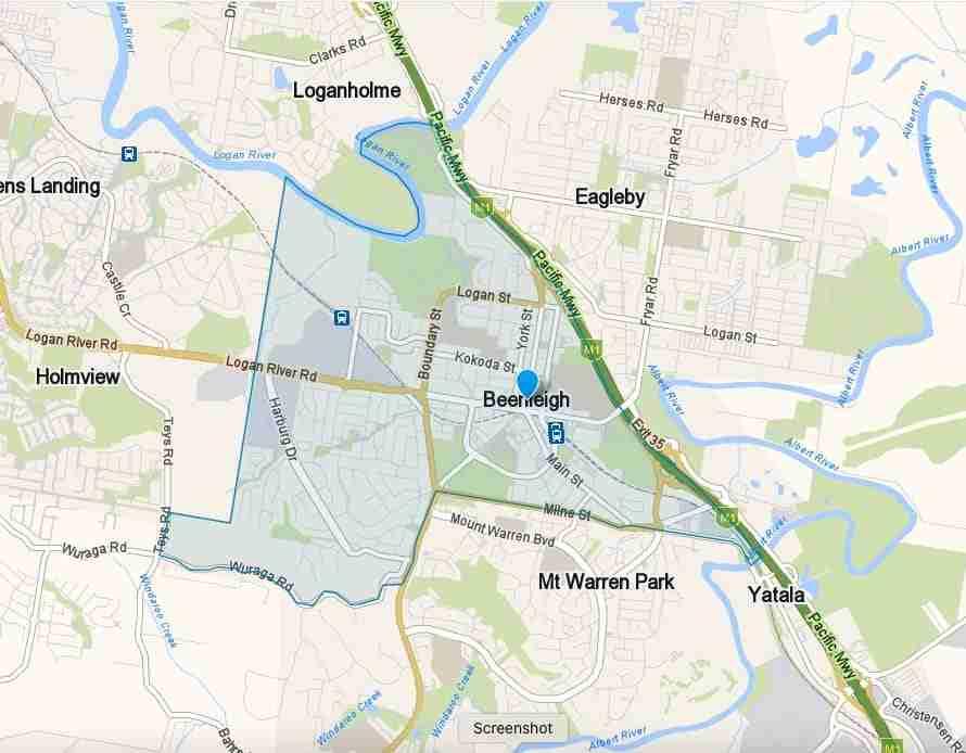 Beenleigh Map