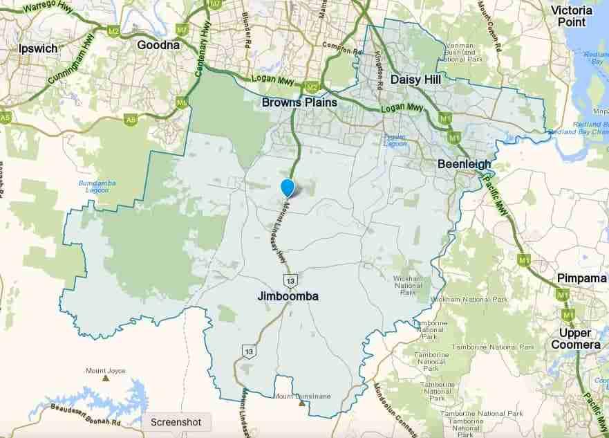 Logan Service Area Map